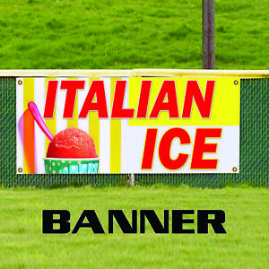 Italian Ice Retail Made In The Usa Business Aluminum Outdoor Vinyl Banner Sign