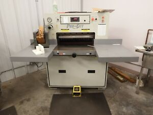 Used Pro cut 265d Hydraulic Papercutter In Operation Challenge Baum Free Pick up