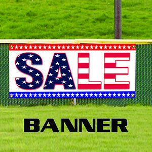 Sale With Usa Flag Outdoor Vinyl Banner Sign