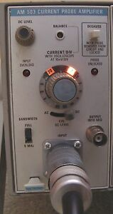 Tektronix Am 503 Current Probe Amplifier W A6303 Probe Tm 501 Calibrated