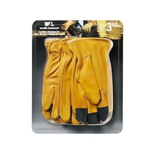 Wells Lamont Grain Leather Glove 3 Pk Xl