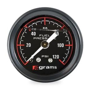 Grams Fuel Pressure Gauge Black Marshall 0 120 Psi Universal