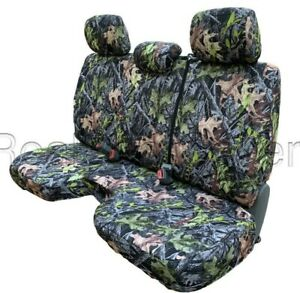 Forest Camo Bench Seat Cover Large Notched Cushion 3 Adj Headrest Exact Fit
