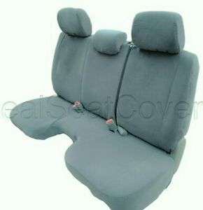 Gray Front Bench Seat Cover Large Notched Cushion 3 Adj Headrest Exact Fit