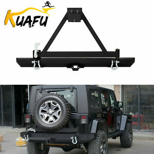 New Rear Bumper W Tire Carrier For 87 96 Yj 97 06 Tj Jeep Wrangler