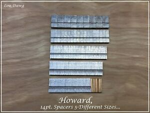 Howard Machine Personalizer 14pt Spacers 6 sizes Hot Foil Stamping Machine