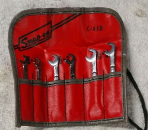 Mint Snap On Mini Midget Ignition Wrench Set C 65d Vintage Sae C65d Offset Angle