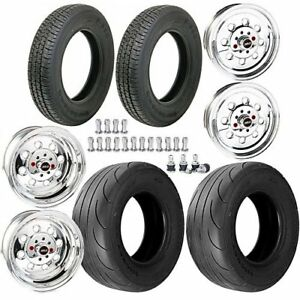 Weld Racing 90 59040k Draglite Wheel Tire Kit 1979 93 Mustang W 4 Lug Includes
