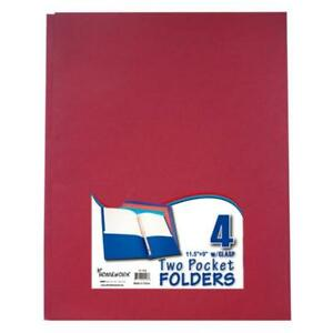 Two Pocket Folders With 3 Fasteners 4 Pack asst Case Pack 48