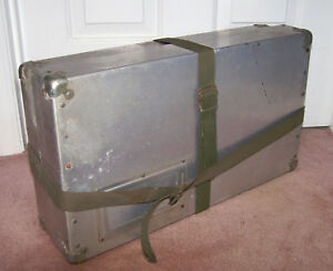 Vintage 1930s 40s Aluminum Roughrider Shipping Postal Mailing Container Box Case