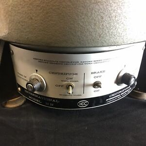 Iec International Hn Lab Benchtop Centrifuge Fixed Angle Rotor spindle Wobble