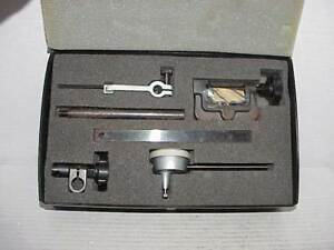 Mitutoyo 001 100 Dial Indicator 1156 W Case Attachments