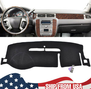 For 2007 2013 Chevy Silverado Black Car Dash Cover Mat Dashboard Pad Carpet
