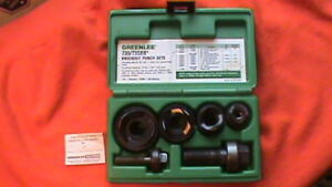 Greenlee Ball Bearing Knockout Punch Set 1 2 To 1 1 4 Cat No 735bb