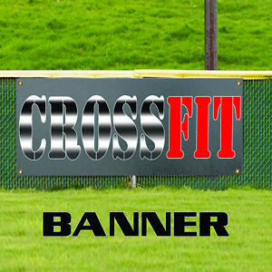Crossfit Workout Program Nutrition Exercise Gym Outdoor Vinyl Banner Sign