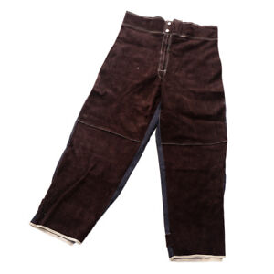 Welding Trousers Flame resistant Cowhide Leather Protective Welding Pants xl