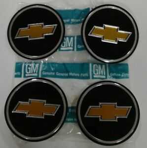 Nos Gm 73 87 Chevy Pickup Truck Bowtie Rally Wheel Cap Insert Emblem Set Of 4