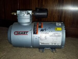 Gast Air Compressor 1hab 44 m100x Piston Type 115 Volt 1 6 Hp 1 Ph Never Used