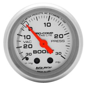 Autometer Ultra Lite 52mm 30 Psi Mechanical Boost Gauge Am4303