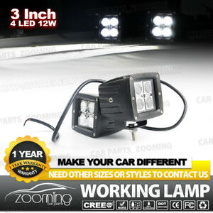 2x 3inch Cree 12w Spot Cree Led Pods Work Light Lamp For Off Road Truck 4wd Atv