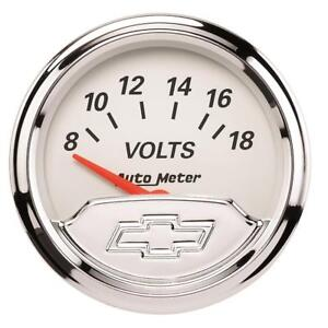 Autometer For Chevy Vintage 2in 8 18 Volts Short Sweep Electronic Voltmeter Gaug