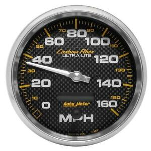Autometer Carbon Fiber Series 5 inch 160 Mph Elec For Programmable Speedometer