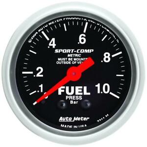 Autometer Sport comp 52mm 0 1 0 Bar Fuel Pressure Mechanical Gauge Am3311 m