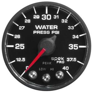 Autometer Spek Pro Nascar 2 1 16in Water Press 0 40 Psi Bfb Amp551328 N1