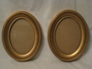 2 Vintage Frames Oval Photo Frame Picture Home Decor 9 75 X 7 75 X 1 25