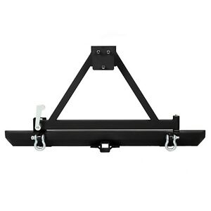 Rear Bumper W Tire Carrier D Ring For 87 96 Yj 97 06 Tj Jeep Wrangler