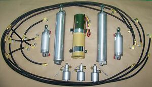 1960 T bird Thunderbird Convertible Top lid Pump Hoses Cylinders Solenoid Kit