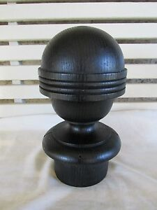 Grand Old Newel Post Finial Round Larger Size Old House Salvage
