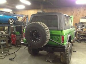 66 77 Bronco Hd Rear Plate Bumper With Swing Out Style Tire Carrier From Hk Fab