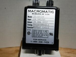 Macromatic Ss 65128 Repeat Cycle Relay 24 V Ac dc 10a Dpdt Programmable