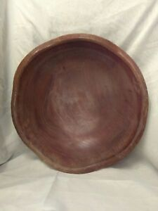Vintage Wood Bread Dough Bowl Carved Antique Mixing Bowl Large Wooden 16