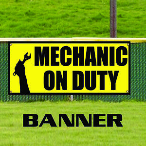 Mechanic On Duty Promotion Indoor Outdoor Vinyl Banner Sign