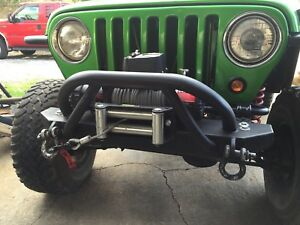 Hd Front Stubby Winch Bumper For 87 06 Jeep Wrangler Yjand Tj From Hk Fab
