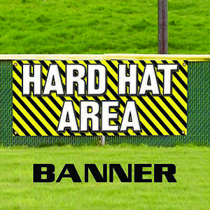 Hard Hat Zone Construction Heavy Machinery Business Outdoor Vinyl Banner Sign