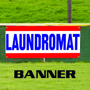 Laundromat Self Service Laundry Business Outdoor Vinyl Banner Sign