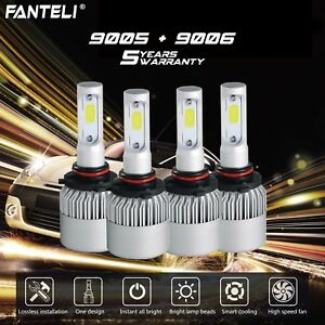 9005 9006 6000k Cree Led 3900w 585000lm Combo Headlight Kits High Low Beam 6k