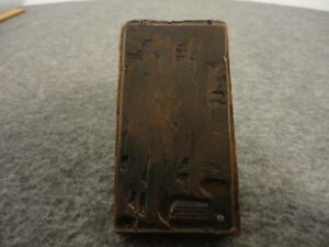 Schloss Brothers Fine Clothes Antique Printing Block Letterpress Ad 4 x 2 1 4
