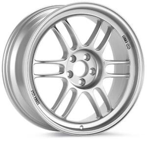 Enkei Rpf1 17x7 5 5x100 48mm Offset 73mm Bore Silver Wheel For 02 10 Wrx For 0