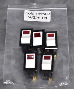 Cole Hersee 58328 04 Rocker Pilot Off On Panel Switch Lot Of 5 B3