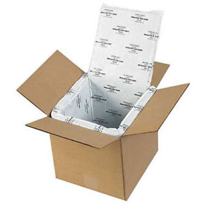 Deluxe Insulated Foam Box Liners 8 x8 x8 5 Pack Liners Only Lot Of 1