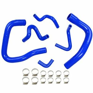 For 1986 1993 Mustang Gt Lx Cobra 5 0l Silicone Coolant Radiator Hose Kit Blue