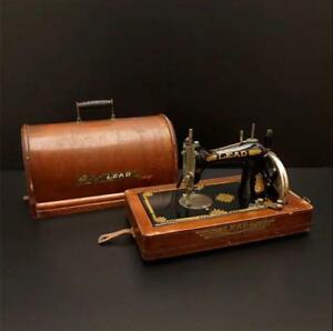 Thrift Lead Leed Hand Cranked Sewing Machine Antique Retro Vintage