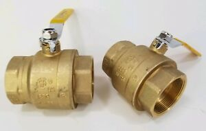 lot Of 2 Opw 1 1 2 Inch Full Port Two way Ball Valve 600wog