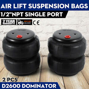 Up Air Ride Suspension Kit 58616 1963 1972 Airlift D2600 Bags Oem Can