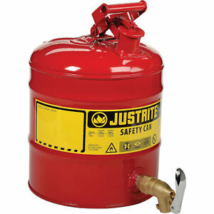 Justrite 174 5 Gallon Safety Shelf Can With Bottom Faucet 08902 Lot Of 1