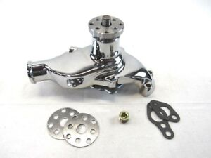 1955 85 Small Block Chevy 350 Aluminum Short Water Pump Chrome Bpk 1004c